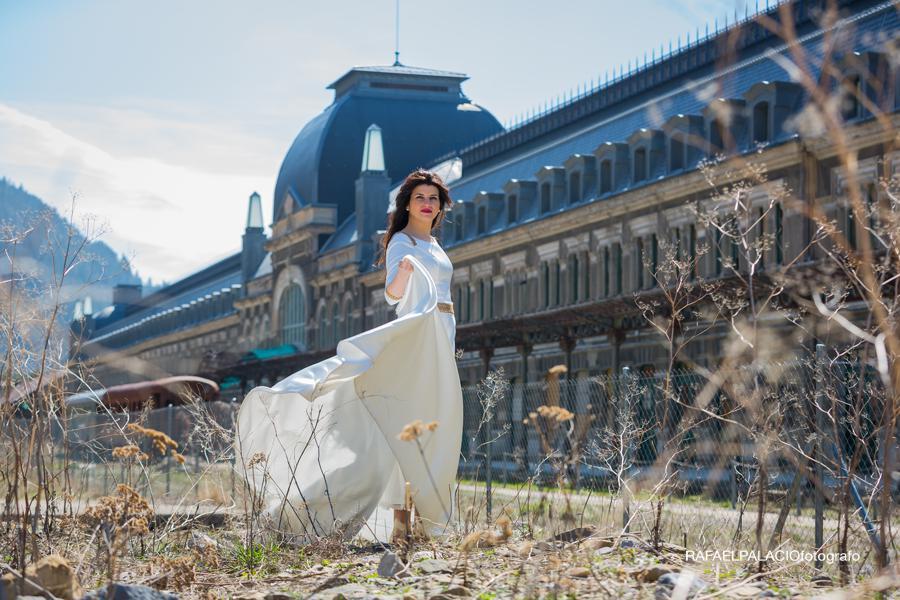 bailando en Canfranc estacion novia boda